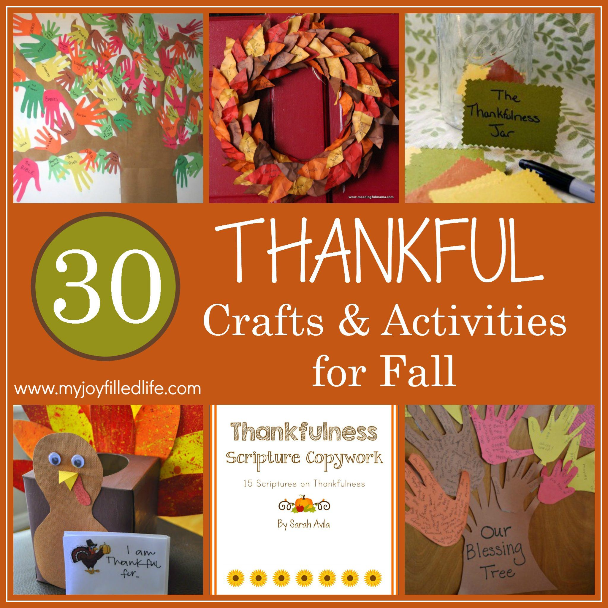 Thankful Crafts and Activities for Fall